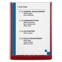 Tabliczka informacyjna, wys. x szer. x głęb. 325x235x15 mm, opak. 5 szt., czerwo marki Durable