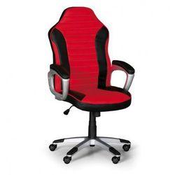 Fotel biurowy SPORT, czarno-czerwony