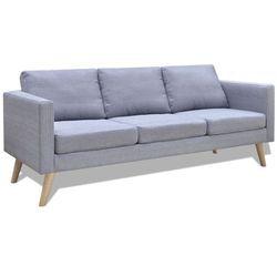 vidaXL Jasno szara 3 osobowa, materiałowa sofa, kup u jednego z partnerów