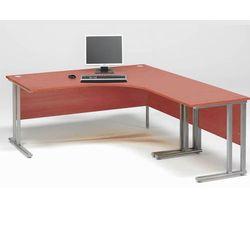 Zestaw biurko skrętne prawe + biurko dostawka Kolor blatu: Calvados laminat