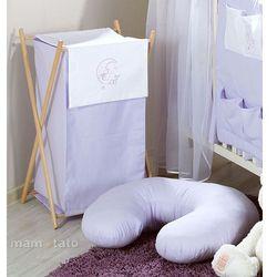 Mamo-tato kosz na bieliznę miś na księżycu w fiolecie