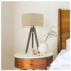 Lysne Nowoczesna lampka nocna saba eco z drewnianym abażurem