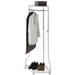 Narożny wieszak na ubrania - szafa na kółkach, WENKO, B00J2KBKO4