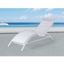 Beliani Leżak ogrodowy biały – plażowy – basenowy - catania