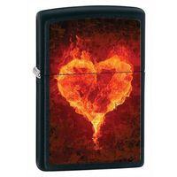 Zapalniczka  burning heart, black matte marki Zippo