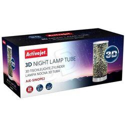 Activejet Lampa nocna 3D E27 AJE-SINOPE 2,srebrny