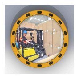 Lustro z żółto-czarną ramą okrągłe - odległość obserwacyjna 20 m ()