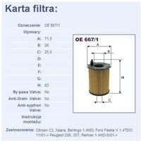 Filtr oleju OE 667/1 z kategorii Filtry oleju