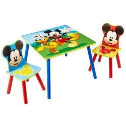zestaw stolik i 2 krzesła myszka miki, drewniane, worl119014 marki Disney