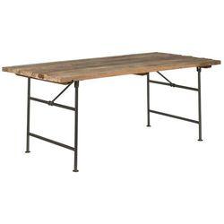 Ib Laursen - Stół z długim drewnianym blatem na metalowych nogach Unique