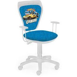 Obrotowe krzesło dziecięce ministyle white - hot wheels 1 marki Nowy styl