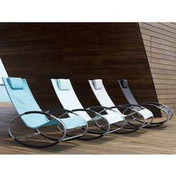 Krzesło ogrodowe szare tekstylne bujane CAMPO (4260586353587)