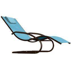 Leżak hamakowy, niebieski wavel1 marki La siesta