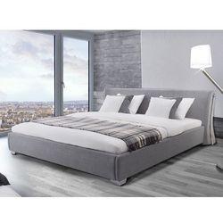 Nowoczesne łóżko tapicerowane ze stelażem 160x200 cm - PARIS szare - sprawdź w Beliani