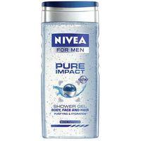 men pure impact shower gel 250ml m żel pod prysznic marki Nivea
