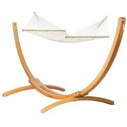 Hamak ze stojakiem drewnianym virginia & elipso rodzinny marki Hamaki la siesta