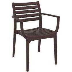 Nowoczesne krzesło ogrodowe Artemis brązowe, towar z kategorii: Krzesła ogrodowe