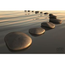 Fototapeta kamienie na wodzie 159 marki Consalnet