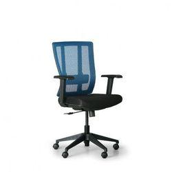 B2b partner Krzesło biurowe met, czarny/niebieski