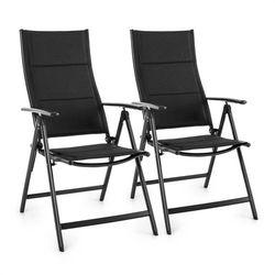 Blumfeldt  stylo royal black krzesło ogrodowe składane aluminiowe czarne 2 sztuki, kategoria: krzesła ogrodowe