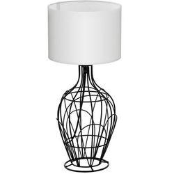 Stojąca LAMPA stołowa FAGONA 94607 Eglo abażurowa LAMPKA nocna drut biała, kolor Biały
