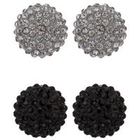 sweet deluxe KIMMY 2 PACK Kolczyki black/black diamond, kolor czarny