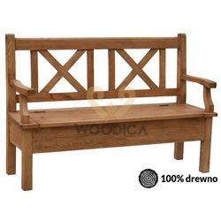 Woodica Ławka hacienda 06 [x + schowek + podparcie] 147x98x56