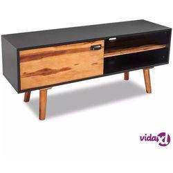 vidaXL Szafka pod TV z drewna akacjowego 120x35x45cm (8718475992370)