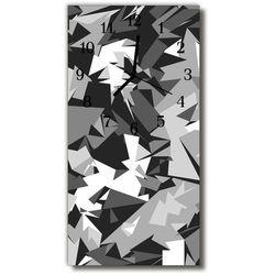 Zegar Szklany Pionowy Sztuka Grafika geometria szary