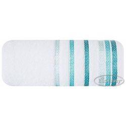 Ręcznik livia 70x140 biały/turkus marki Eurofirany