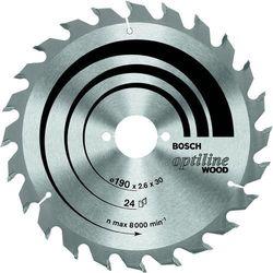 Tarcza tnąca  Optiline Wood, śr.160 mm, 24 z/cal, 1 szt., Bosch