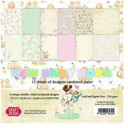 Papier 30,5x30,5 new baby born - zestaw marki Craft and you design