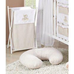 MAMO-TATO Kosz na bieliznę Śpioch na chmurce brąz z białym - produkt z kategorii- Kosze na pranie