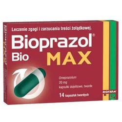 BIOPRAZOL BIO MAX 20mg x 14 kapsułek (na wzdęcia)