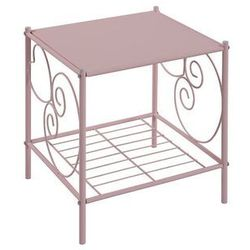 Vente-unique.pl Romantyczny stolik nocny vivian z 1półką - metal - kolor różowy