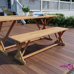 ławka ogrodowa, 120 cm, lite drewno tekowe marki Vidaxl