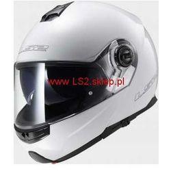 KASK MOTOCYKLOWY LS2 SZCZĘKOWY FF325 STROBE SOLID - kolor Biały połysk (kask motocyklowy)