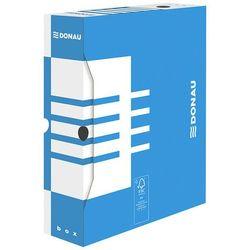 Pudło archiwizacyjne DONAU, karton, A4/80mm, niebieskie