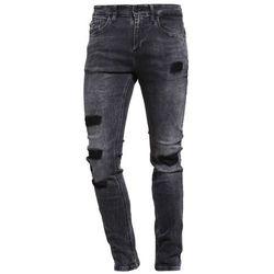 Calvin Klein Jeans SUPER SKINNY GREY CAVE Jeans Skinny Fit black denim