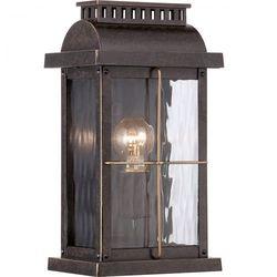 Zewnętrzna LAMPA ścienna HEREFORD BL22/G Elstead klasyczny KINKIET metalowa OPRAWA ogrodowa IP43 outdoor czarna (1000000163841)