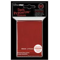 Koszulki (protektory) ultra pro czerwone 50s