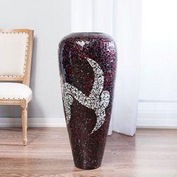 Dekoria  wazon suri bordowo-biały, 99 cm, 99cm
