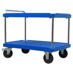 Wózek stołowy do dużych obciążeń, dł. x szer. 1200x800 mm, nośność 500 kg, niebi