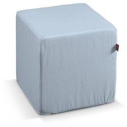 pufa kostka twarda, pastelowy niebieski, 40x40x40 cm, loneta marki Dekoria