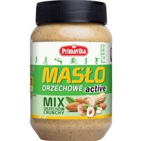 - mix orzechów crunchy active masło orzechowe 470g, marki Primavika
