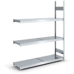 Regał wtykowy o dużej pojemności z półkami stalowymi,wys. 2000 mm, szer. półki 1500 mm marki Hofe