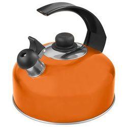 Florentyna Czajnik aluminiowy florina 2,5l pomarańczowy stały gwizdek (5901832355496)