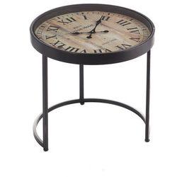 stolik pomocniczy industrial clock śr.53cm, 53 × 53 × 54 cm marki Dekoria