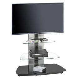 Stolik pod telewizor, 130 cm, czarny, szkło, metal, 16189442 marki Maja-möbel