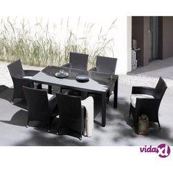 Beliani Meble ogrodowe rattan ogród patio weranda stół 160cm ITALY